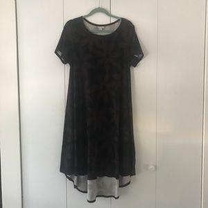 NWOT Lularoe Black/Maroon Carly - Size S